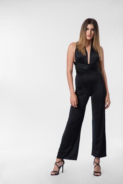 50450dd318 Halter Neck Flare Jumpsuit by Parisian – Optimum Outfit