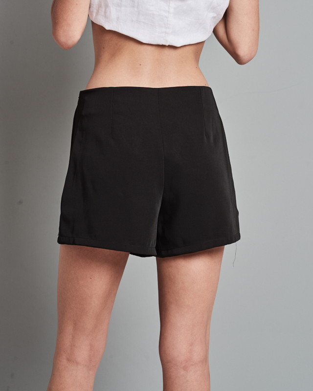 Black sailor shorts - Buttons up the front for that sailor style. Size medium fits like a 4. Worn once. Jean material.