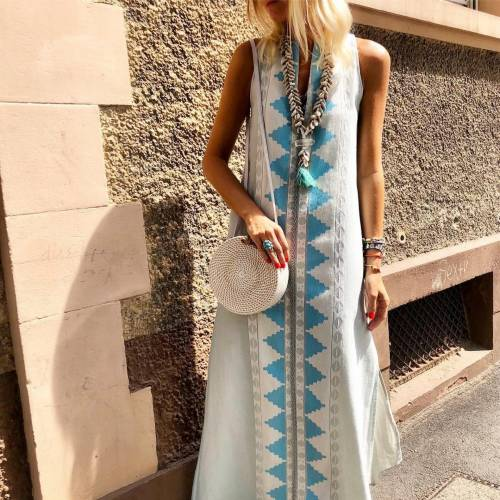 Embroidered Long Dress By Nejma