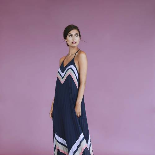 YAS Milda Pleated Maxi Dress