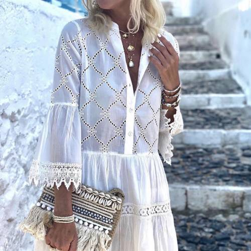 ONLY Pgriley life 3/4 short white woven dress