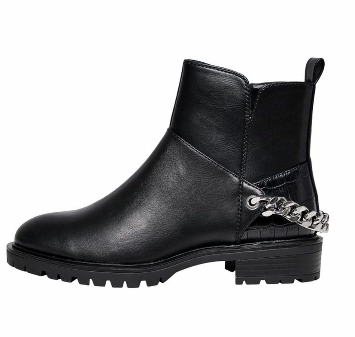 ONLY Tina PU chain black boot